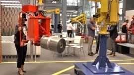 Manipulatory przemysłowe na stoisku firmy Dalmec