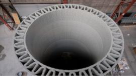 Produkcja betonowych elementów turbin wiatrowych w druku 3D