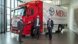 MEWA korzysta z ciężarówki z napędem wodorowym