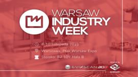 Rozwiązania eviXscan 3D już niebawem na prestiżowych targach Warsaw Industry Week